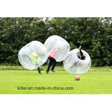 Ce estándar 1.5m 0.8mm TPU / PVC burbuja humana del fútbol de Inflatalbe, bolas de la burbuja para la venta