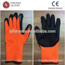latex acrylic coated working gloves ,wrinkle finish,7 gauge