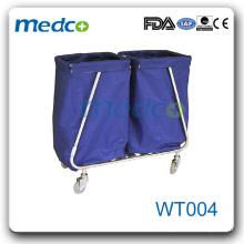 WT004 Hot sale! hospital linen trolley stainless steel trolley