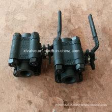 ANSI 1500lb forjou a válvula de bola da extremidade da linha do aço carbono A105