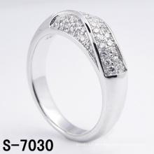 Anillo de plata esterlina de la nueva joyería de la manera 925 del diseño con CZ (S-7030)