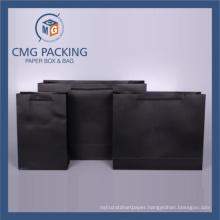 fashion Matt Black Paper Gift Bag with Handle (CMG-PGBB-010)