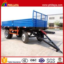 2 Achsen-Bauernhof-Produkt-Transport-Seitenwand-landwirtschaftlicher Anhänger