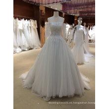 Vestido de novia de moda con mangas
