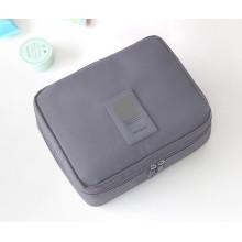 Saco de armazenamento de viagem Saco de embalagem de caixa de maquiagem de armazenamento dobrável com zíper
