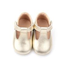 Sapatos T-Bar Bonitos Ouro para Meninas