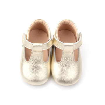 Pretty Gold Baby Girls T-Bar Shoes Shoes Shoes