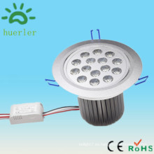 Baja voltaje dc12v 24v ac 100v led empotrable downlight 15w hecho en china