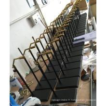 Tablettes pour étagères en acier brossé de haute qualité