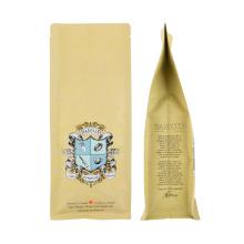 Wholesale 250g 500g 1kg Block Bottom Kraft Paper Coffee Bag