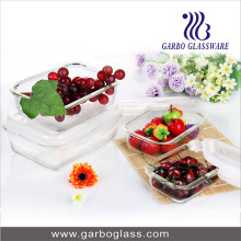 Glass Kitchen Ware Food Fresh Keeping Box with Lid