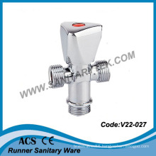 Chrome Plated 3-Way Angle Valve (V22-027)