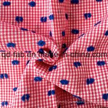 100% hilo de algodón teñido de Jacquard (QF13-0755)