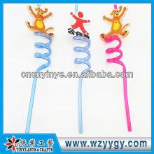 2D promocionales pvc duro pajas de plástico