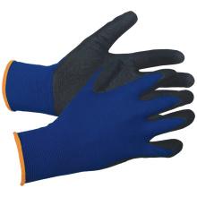 13 Gauge Blue Polyester Shell Nitrile Coated Gloves Sand Grip Glove