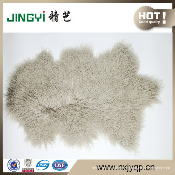 Wholesale Long Hait Curly Natural Shape Tibetan Sheep Skin