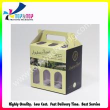 Boîtes d'emballage en papier de carton créatives pour la bière et le vin
