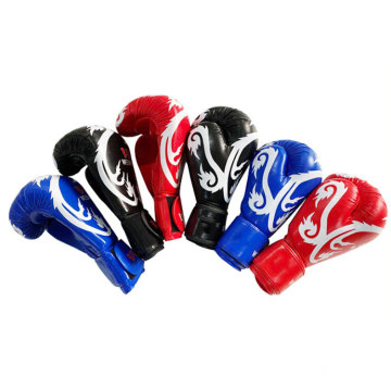 Custom Logo Professional PU Leather Kick MMA Sparring Boxing Gloves