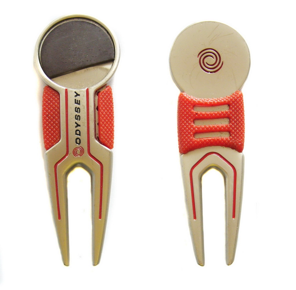 Brass golf divot tool