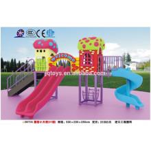 B0708 jardín de infantes muebles al aire libre hongo Estructura de juego para los niños los niños al aire libre juego de diapositivas parque de atracciones