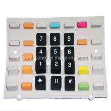 Borracha de silicone teclado de cor dupla
