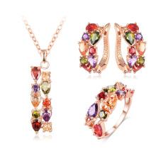 Pendentif Zircon cubique / Boucles d'oreilles / Anneau Femmes Ensembles de bijoux de mariage (CST0030-A)