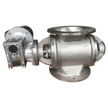 Industrial airlock granular discharge rotary feeder valve