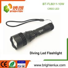 Factory Wholesale Aluminium 5 modes 1 * 18650 Batterie à haute puissance 10W Cree xml t6 led Rechargeable Waterproof Flashlight