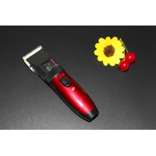 Cordless Red Electric recarregável Hair Clippers