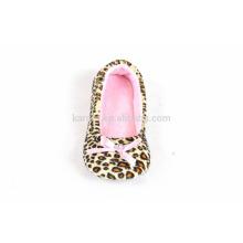 fashion animal print pink super soft quiet women indoor ballet dancing shoes slipper