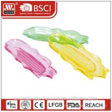 Colorful corn shape Plastic plate