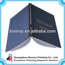Cubierta de tela de tapa dura encuadernada con servicio de impresión de cuaderno diario