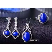 Fashion Natural Lapis Jewellery Set (S2658)