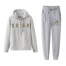 Customized Logo Casual Women Hoodies And Trousers With Soft Handfeel
