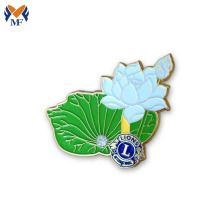 Metal flower custom shape brooch lapel pin