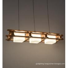 Wooden Hanging Pendant Lamp (N-017S-3)