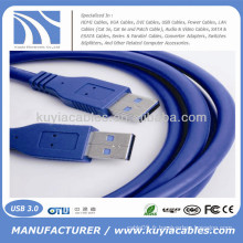 Câble bleu haute qualité USB 3.0 mâle à mâle compatible PC et Mac