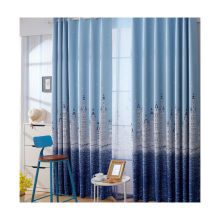 Amazon select supplier cheap price curtains ready made digital print Polyester/Linen office window curtain