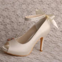 Ivory Ankle Strap Platform Chaussures pour femmes