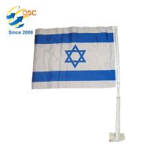 Promotionnel en gros plume israël drapeau de voiture nationale