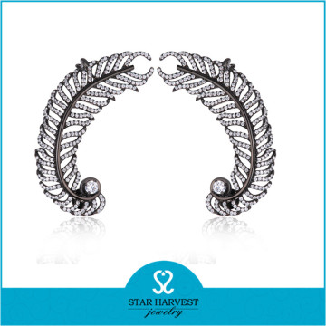 Pendiente de plata de moda elegante y joyas CZ (E-0257)