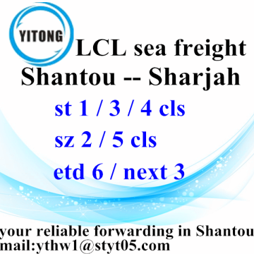 Shantou International Services Penghantaran ke Sharjah