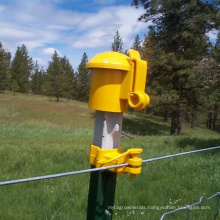 PE Yellow Star Picket Y Fence Post Safety Cap