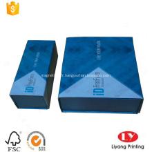 Boîte-cadeau imprimée pliable en carton avec aimant