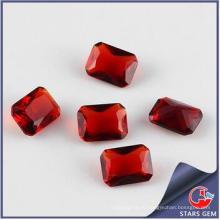 Гранат Красный Прямоугольник Форма Кубический цирконий Синтетический драгоценный камень