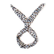 Banda del pelo de la tela del leopardo para el estilo de pelo (HEAD-21)