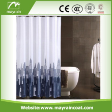 Super Quality Grey Building Shower Curtain