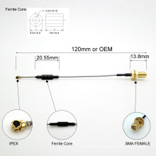 Free Custom Made SMA To IPEX Coaxial Cable With Core