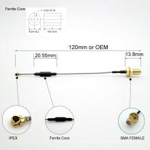 Бесплатный заказ SMA для выставки ipex коаксиальный кабель с сердечником