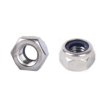Stainless Steel 304 18-8 hex nylon locked nuts with blue rubber ring DIN 985